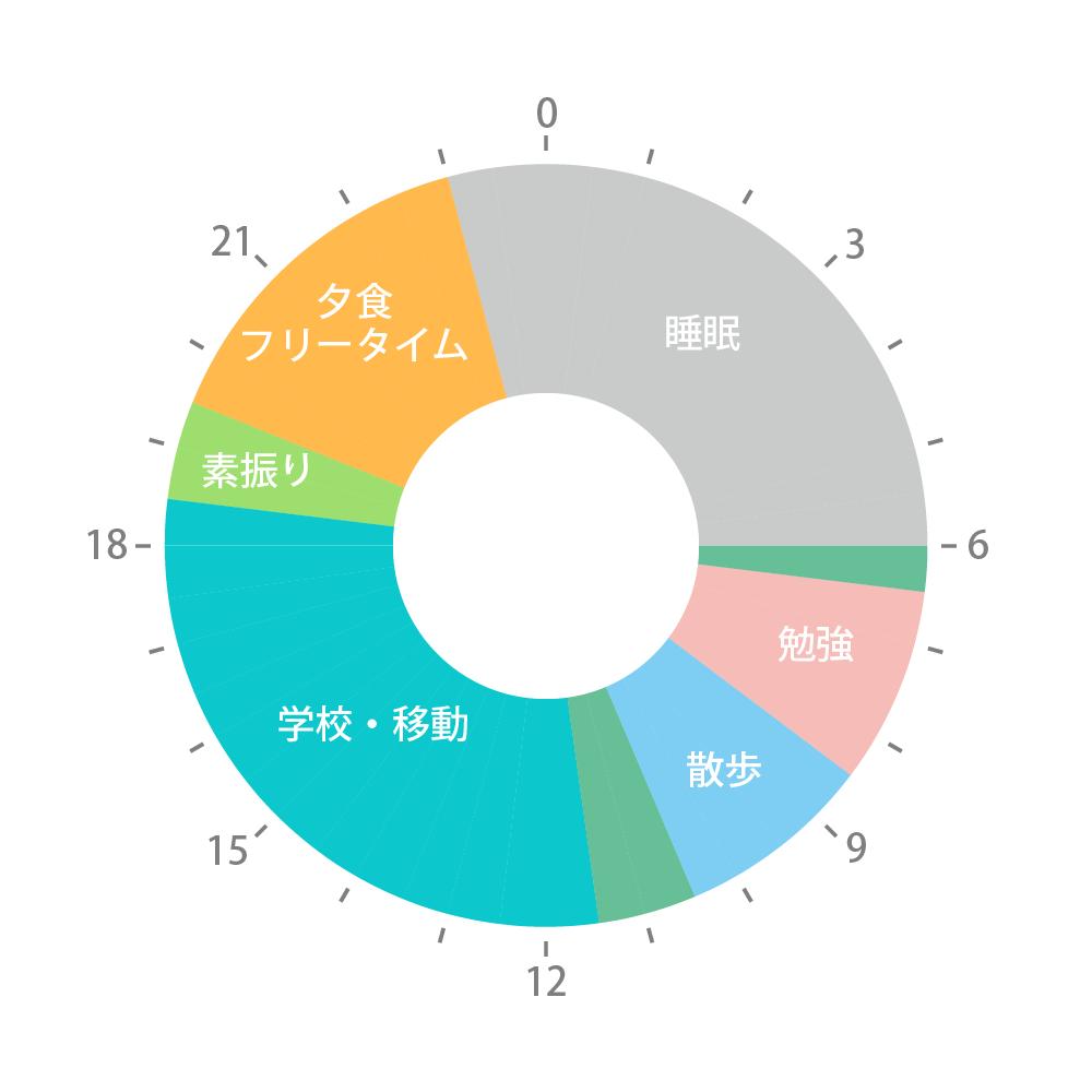 図:1日の流れ